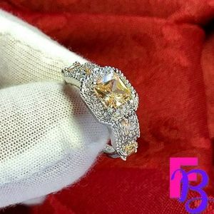 Size 10 Morganite Art Deco Ring